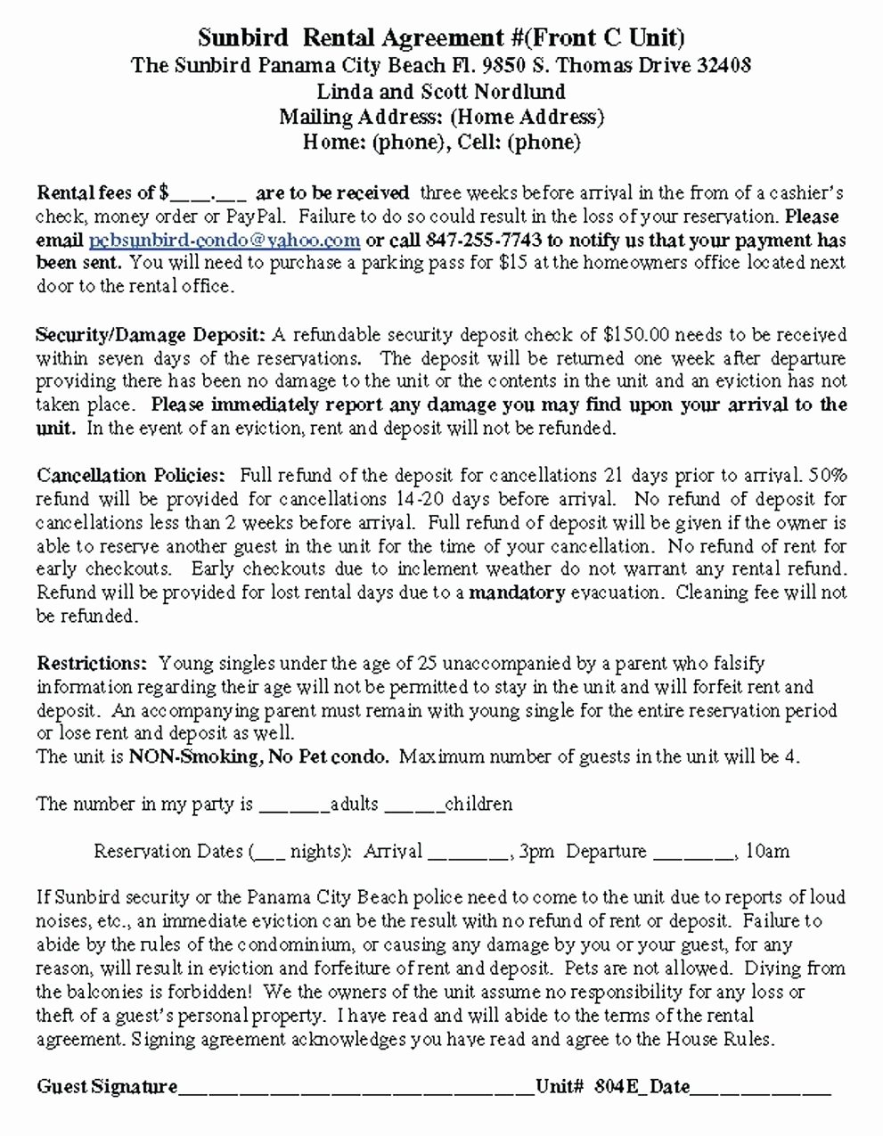 Tario Separation Agreement Template