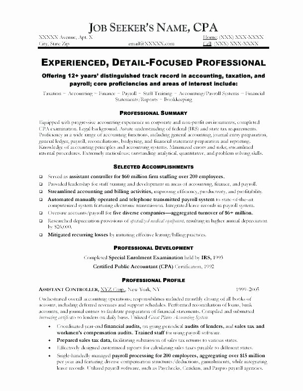 Tax Manager Resume Objective Resumes Templates