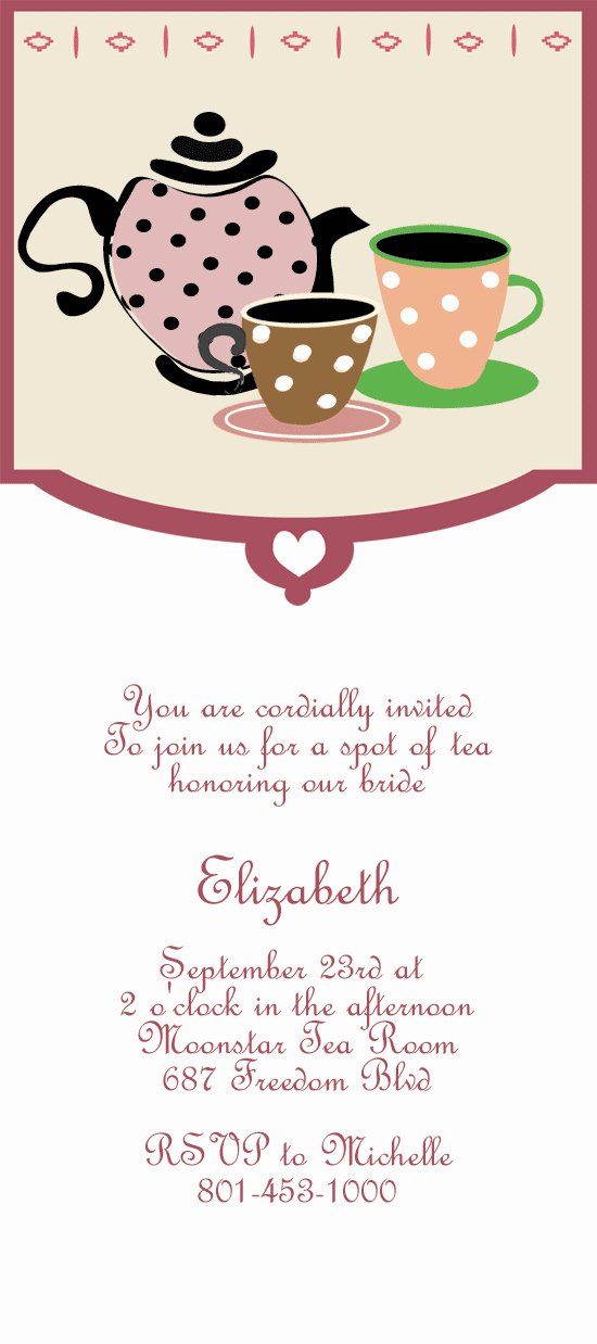 Tea Party Invitation ← Wedding Invitation Templates