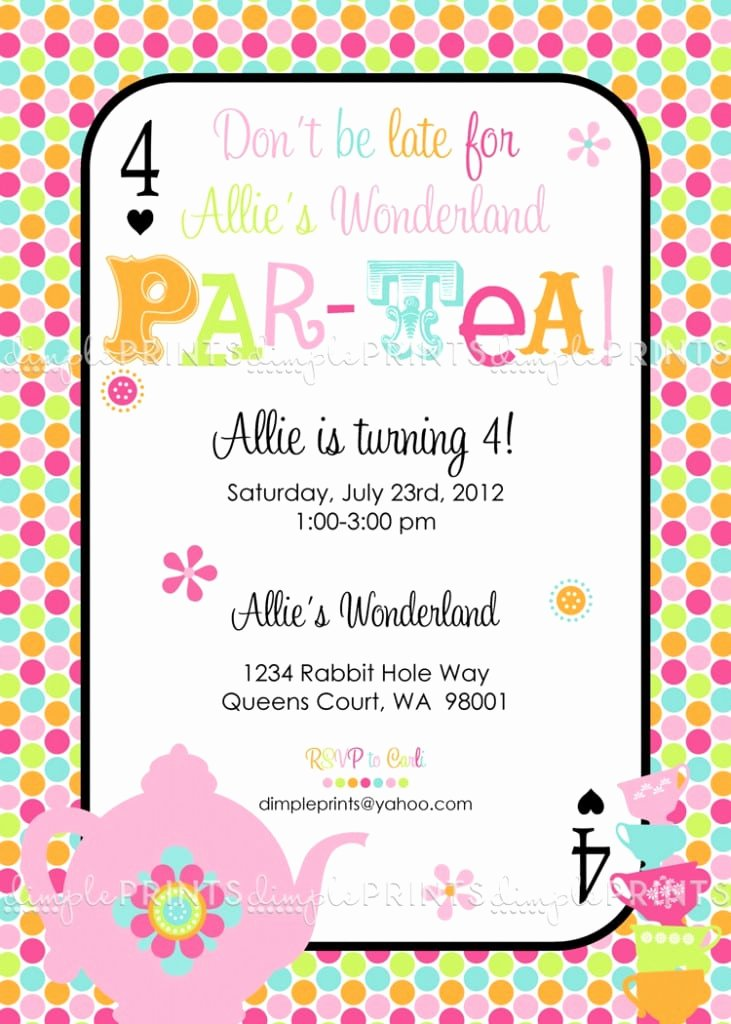 Tea Party Invitation Template Free – orderecigsjuicefo