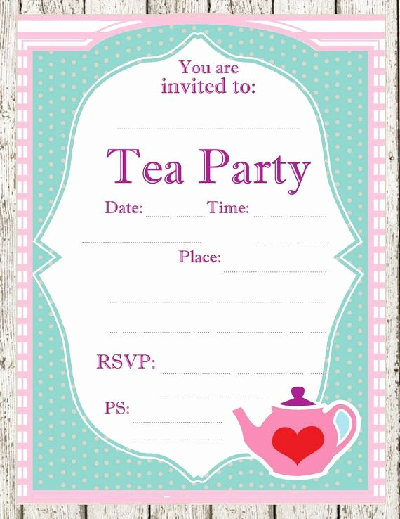 Tea Party Printable Invitations Parties