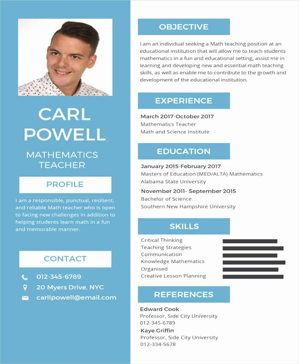 Teacher Brochure for Interview Template Awesome Teacher