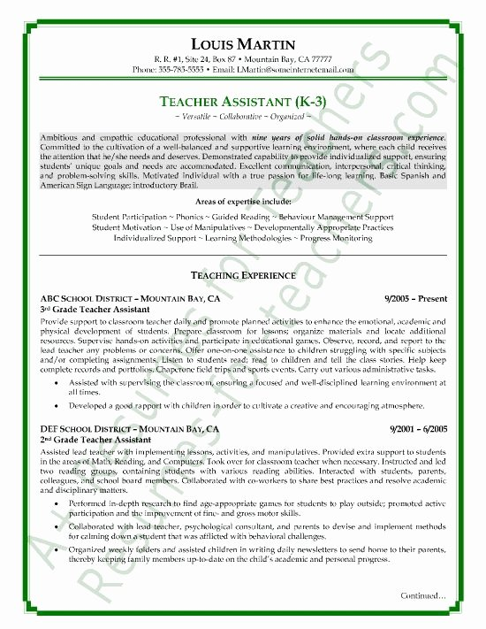 Teacher Candidate Resume Best Resume Collection
