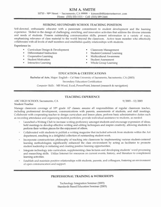 Teacher Job Description Resume Best Resume Collection