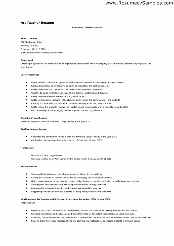 Teacher Job Resume format Best Resume Collection