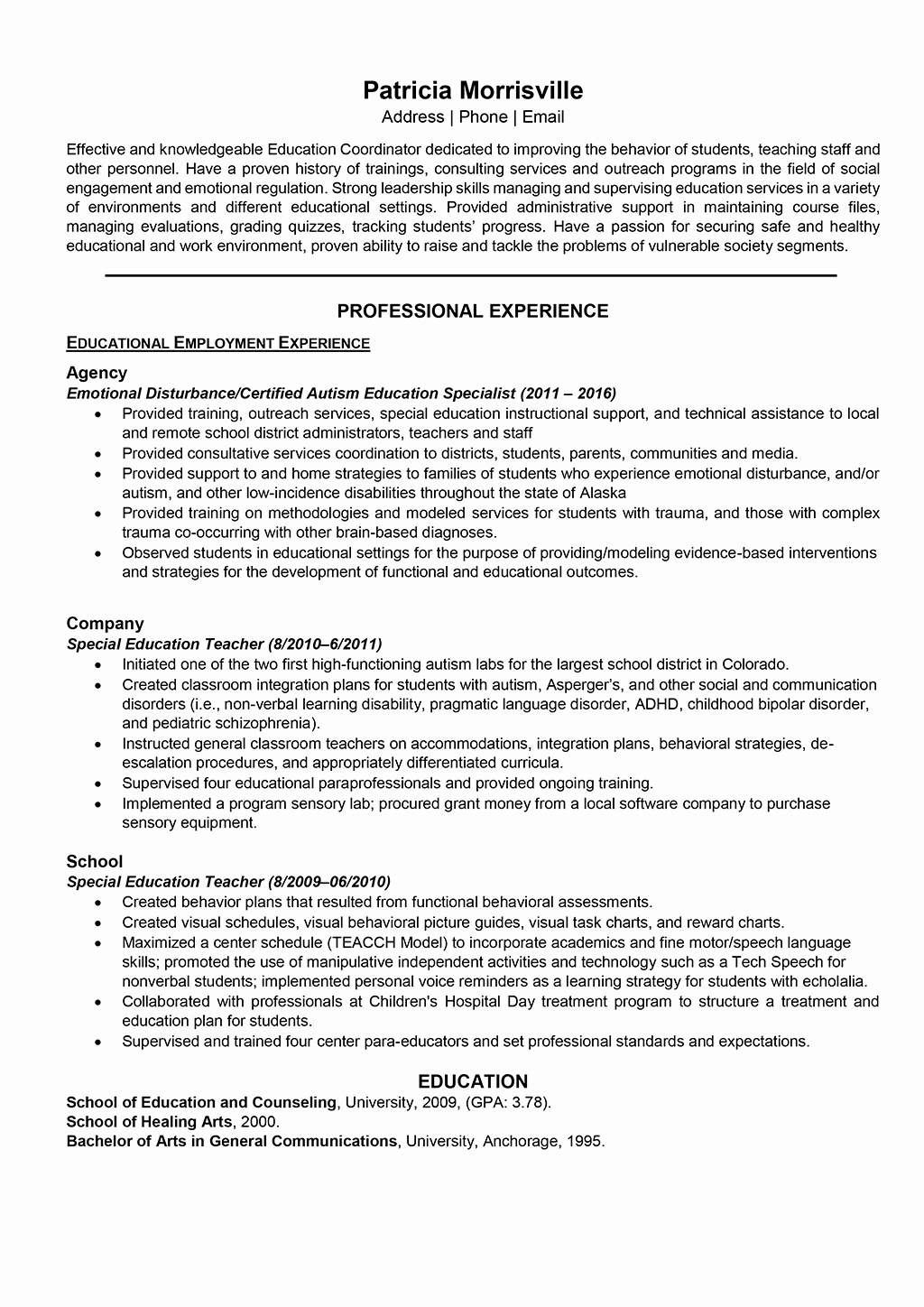 Teacher Resume Samples and Writing Guide [10 Examples