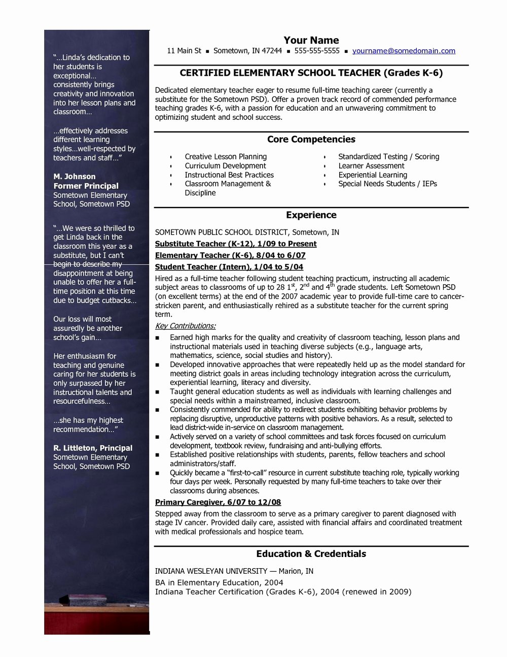 Teacher Resume Template Free Download Resumes 400
