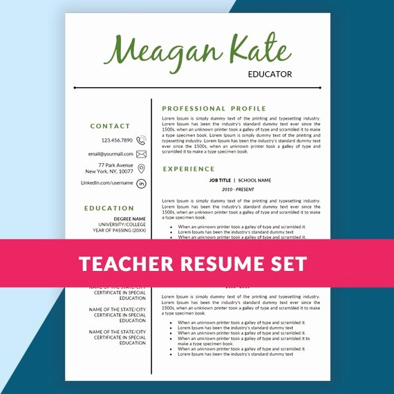 Teacher Resume Template Teaching Resume Cover by Resumesouk