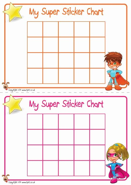 Teacher S Pet Displays Superhero Sticker Charts Free