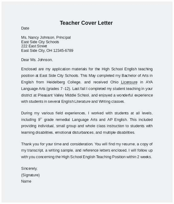 Teaching English Abroad Resume Sample Perfect Cover Letter