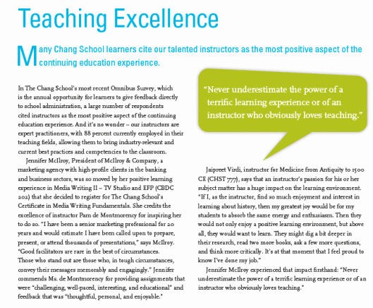 Teaching Excellence An Interview – Jaipreet Virdi