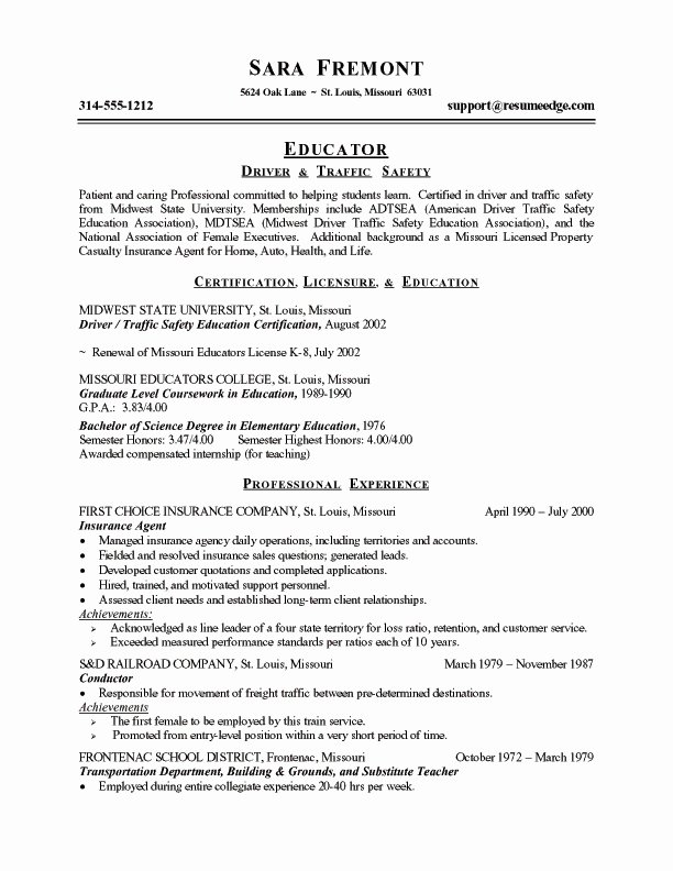 Teaching Resume Objective Best Resume Collection