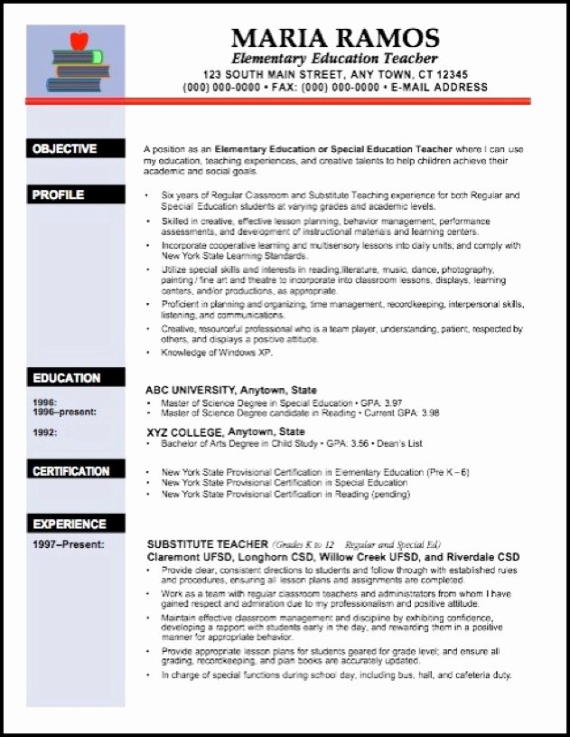 Teaching Resume Objective Education Resume Template Word