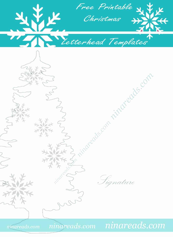 Teal Free Printable Christmas Letterhead Templates 3rjbk7