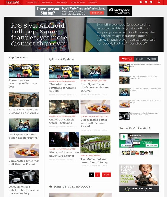 Techism Responsive Blogger Template