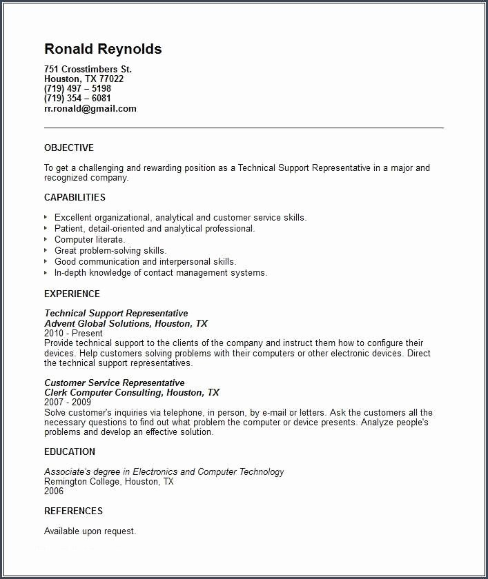 Technical Resume Template and Technical Resume Examples