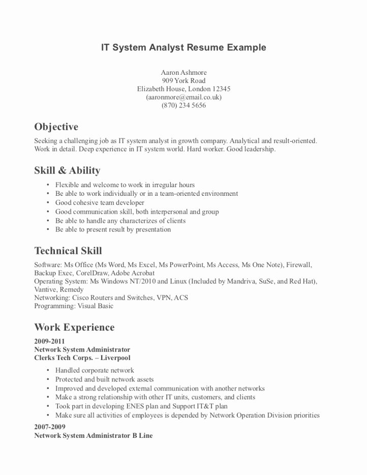 Technical Skills for A Resume Best Resume Gallery