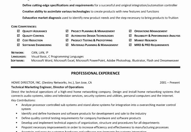 Technical Skills Resume