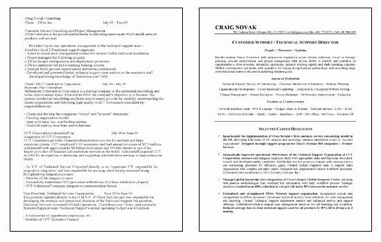Technical Support Resume Example