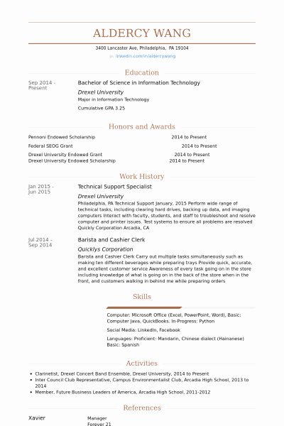 Technical Support Specialist Resume