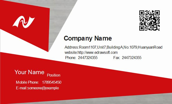Technician Business Card Template