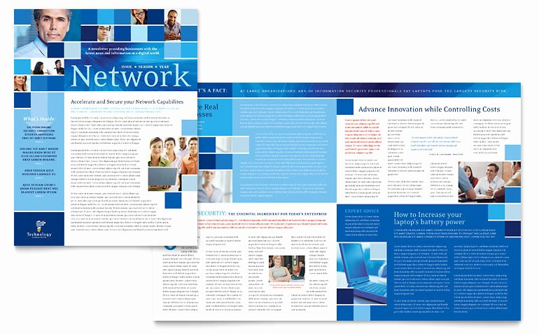 Technology Consulting IT Newsletter Templates TC D