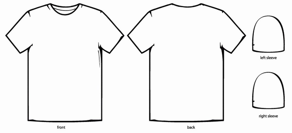 Tee Shirt Template Beautiful Template Design Ideas