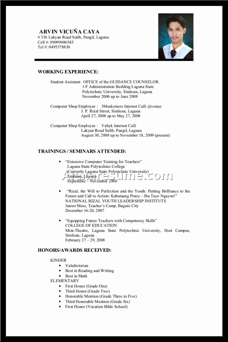 Teen Resume No Experience Templates – Perfect Resume format