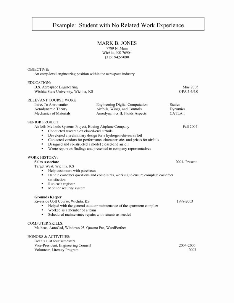 Teen Resume No Experience Templates