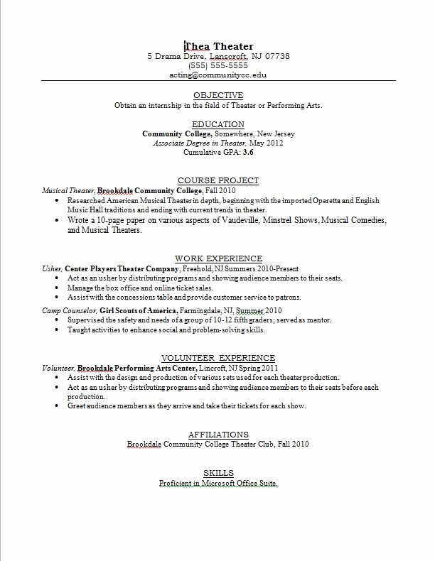 Teen Resume Template