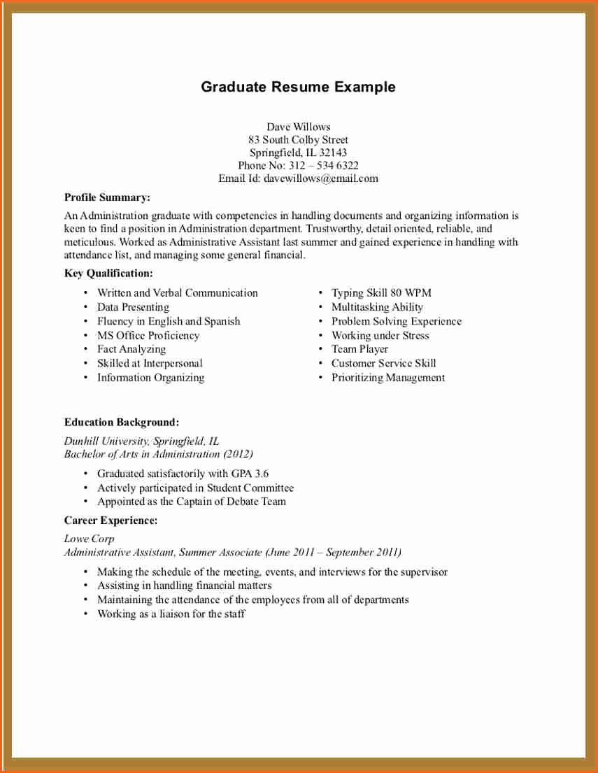 Teen Resume with No Work Experience – Perfect Resume format