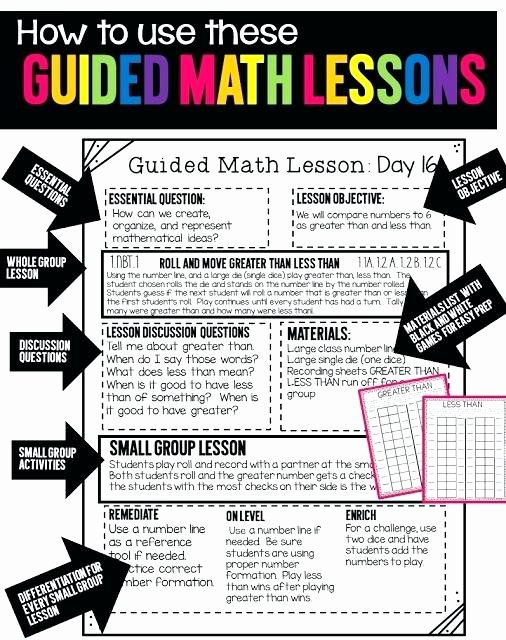 Teks Math Lesson Plans Product Guided Math 6th Grade Math