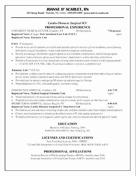 Telemetry Resume Nurse