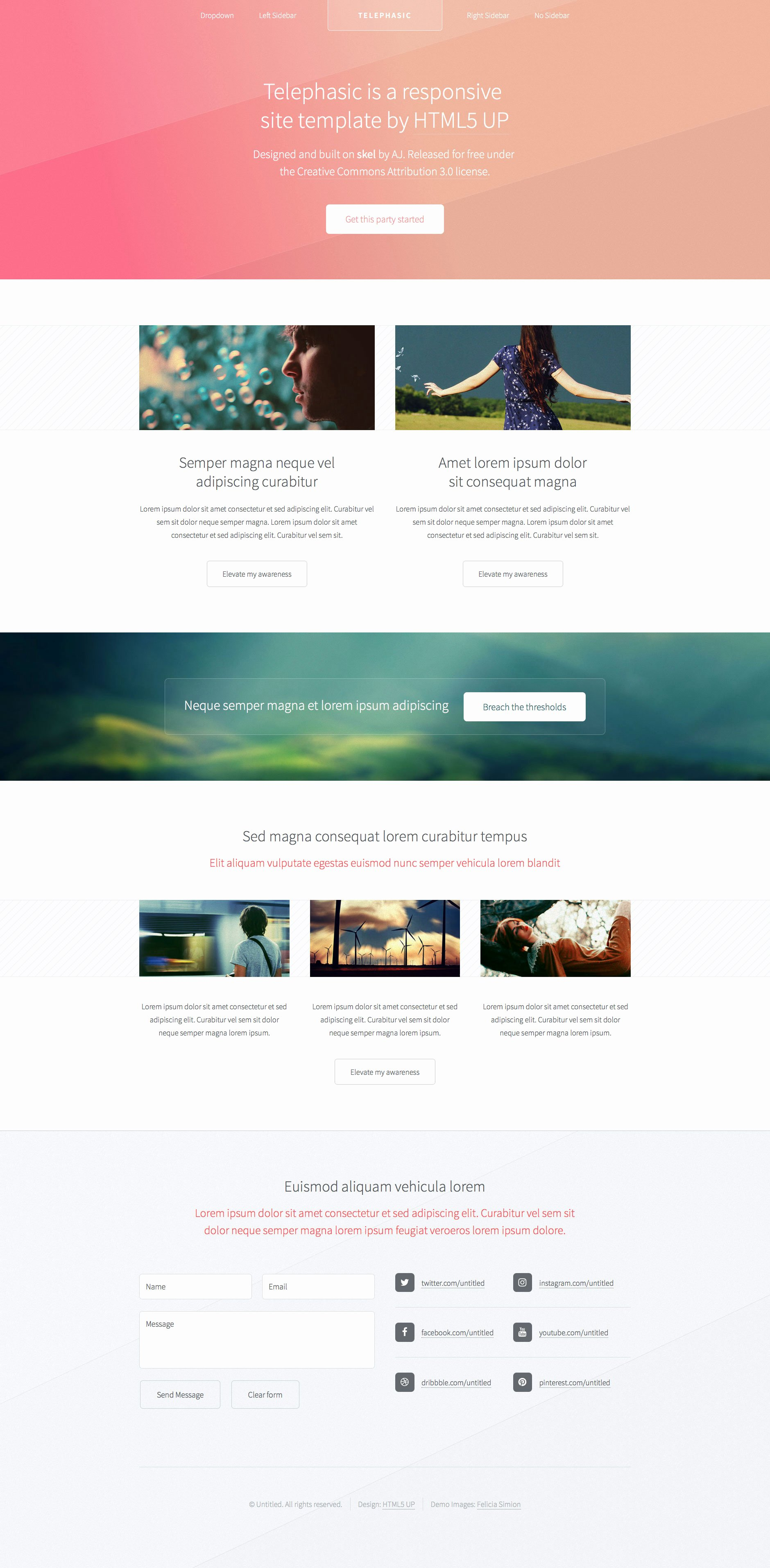 Telephasic Free Responsive HTML5 Template HTMLtemplates Co