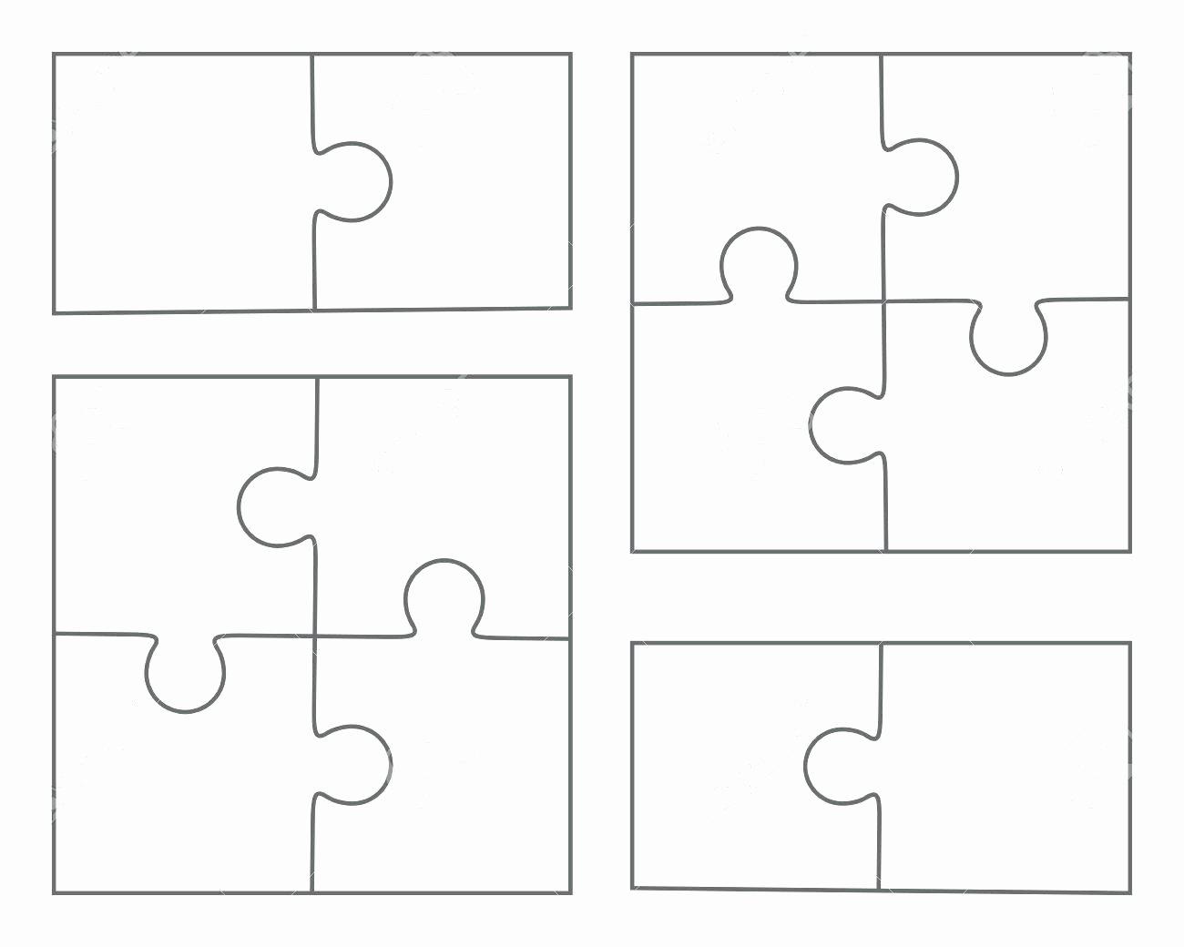 Template 2 Piece Puzzle Template
