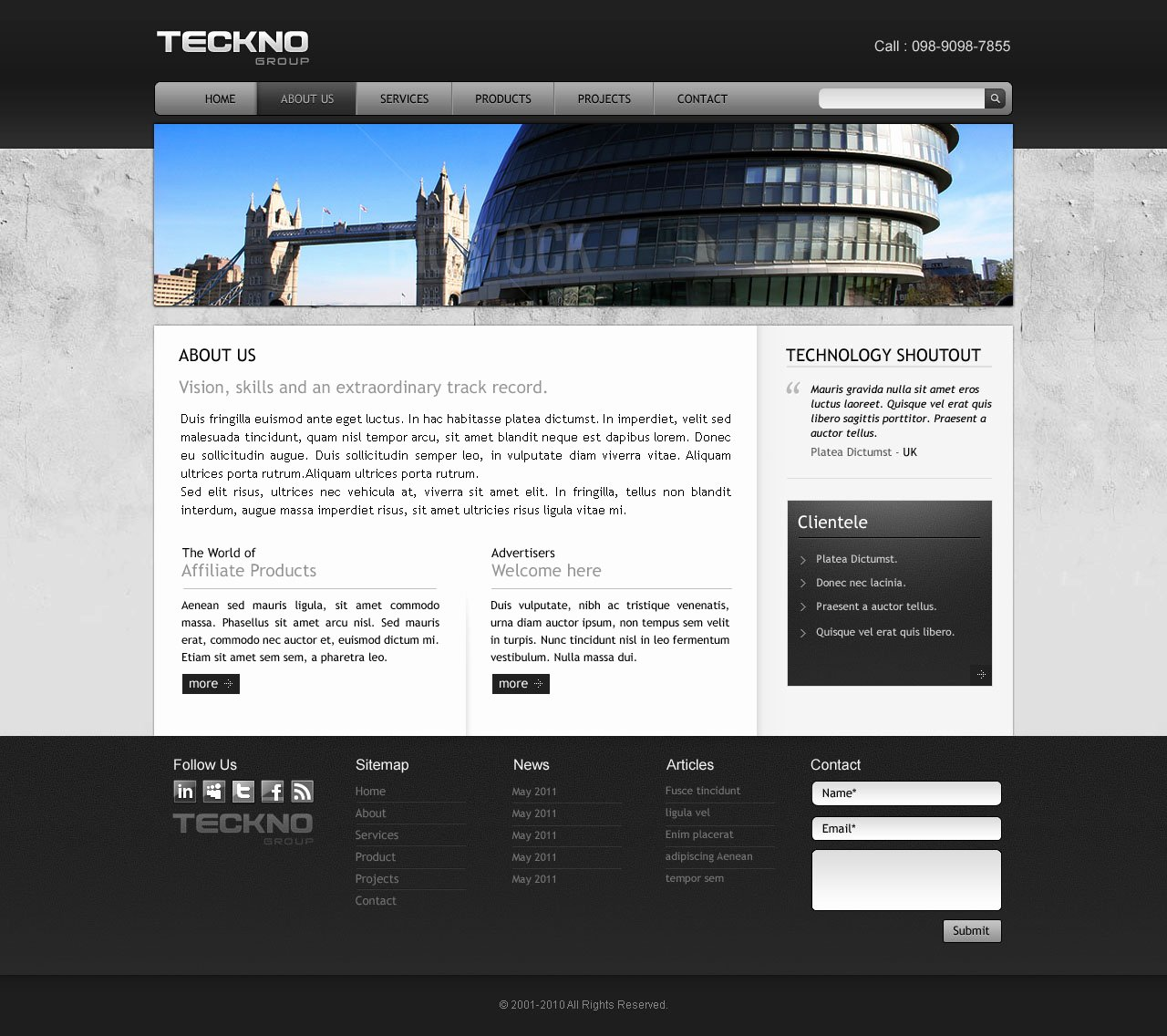 Template 3 Industrial Website Overview