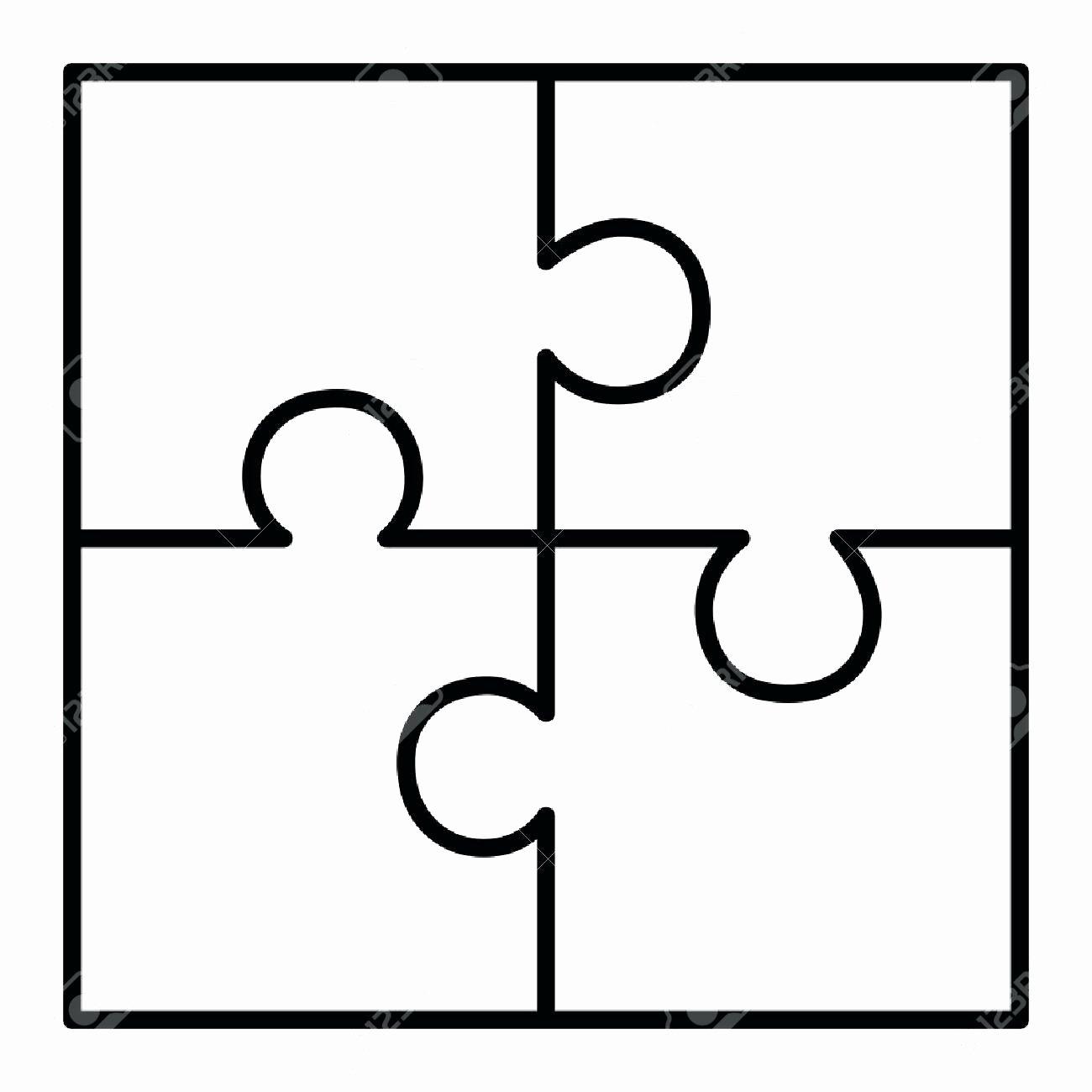 Template 4 Piece Puzzle Template