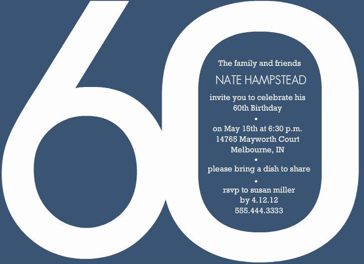 Template 60th Birthday Invitation