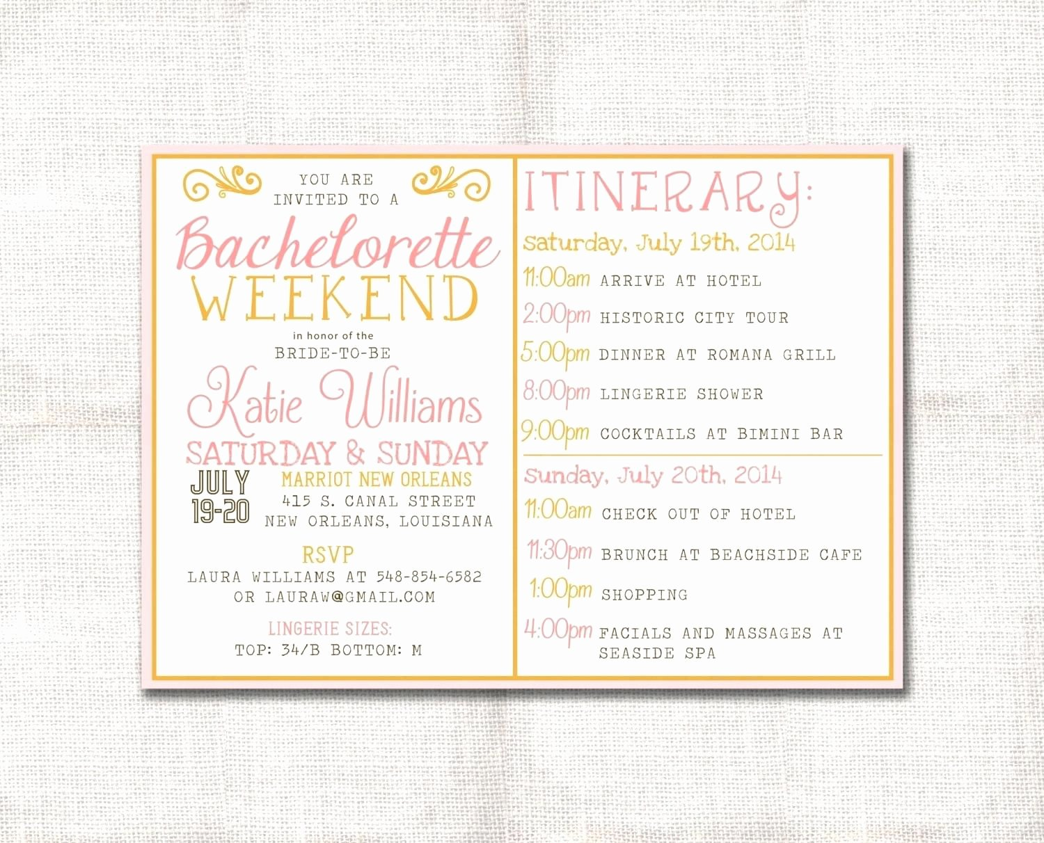 Template Bachelorette Party Agenda Template Zoom Free