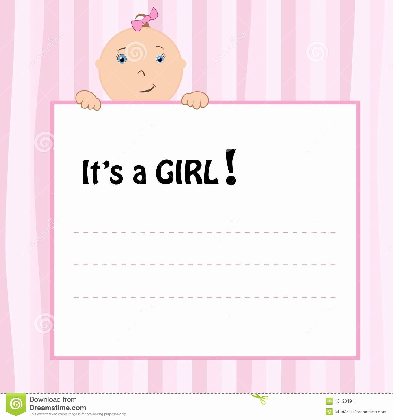 Template Birth Announcement Template