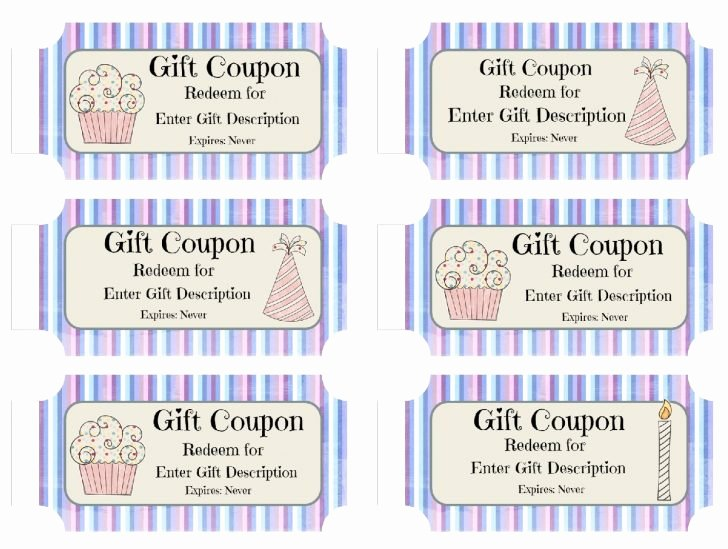 Template Birthday Coupon Template