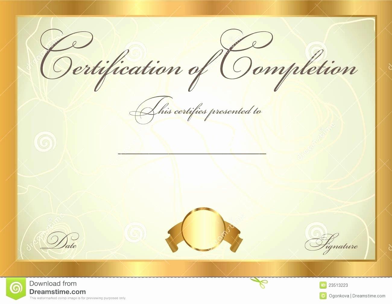 Template Blank Award Certificate Template