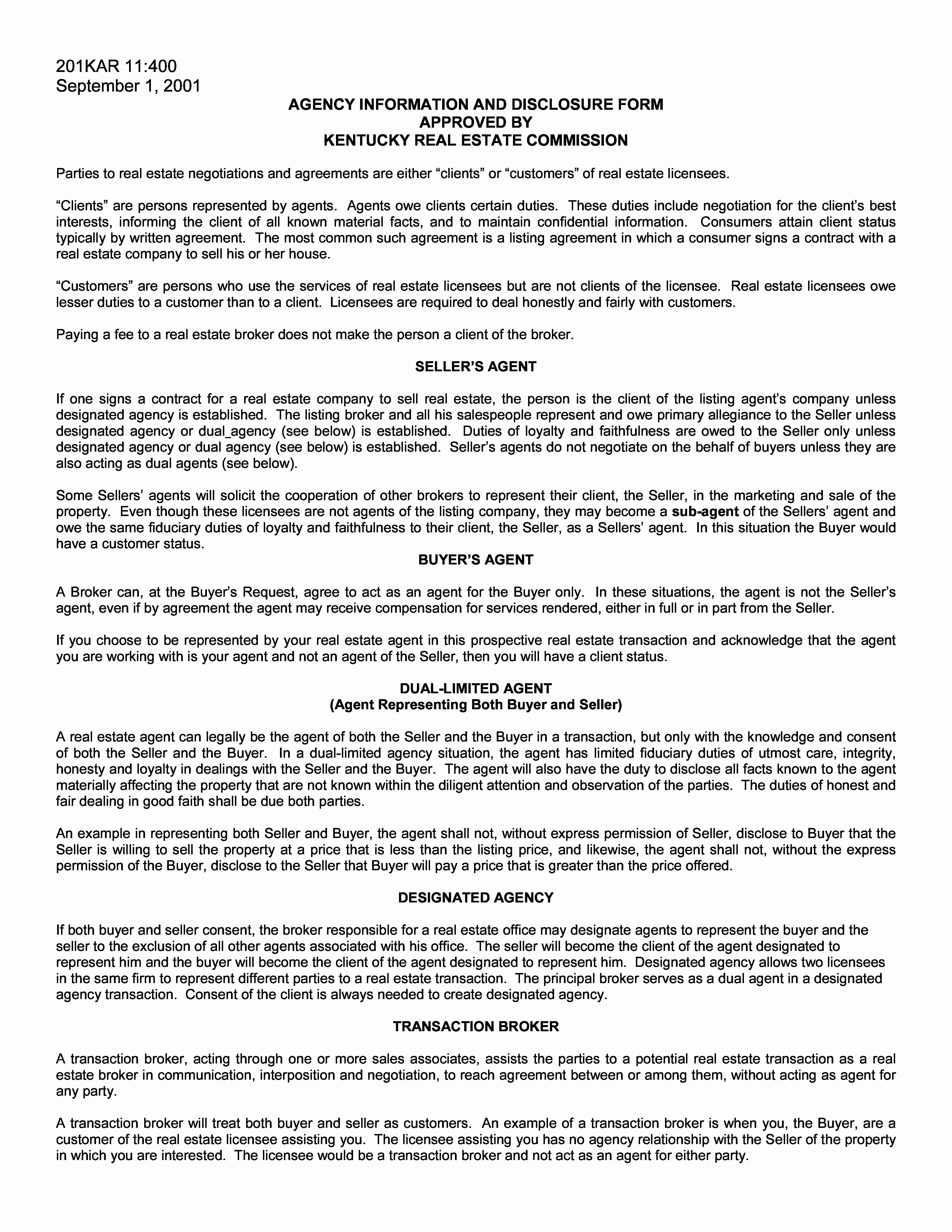 Template Broker Mission Agreement Template