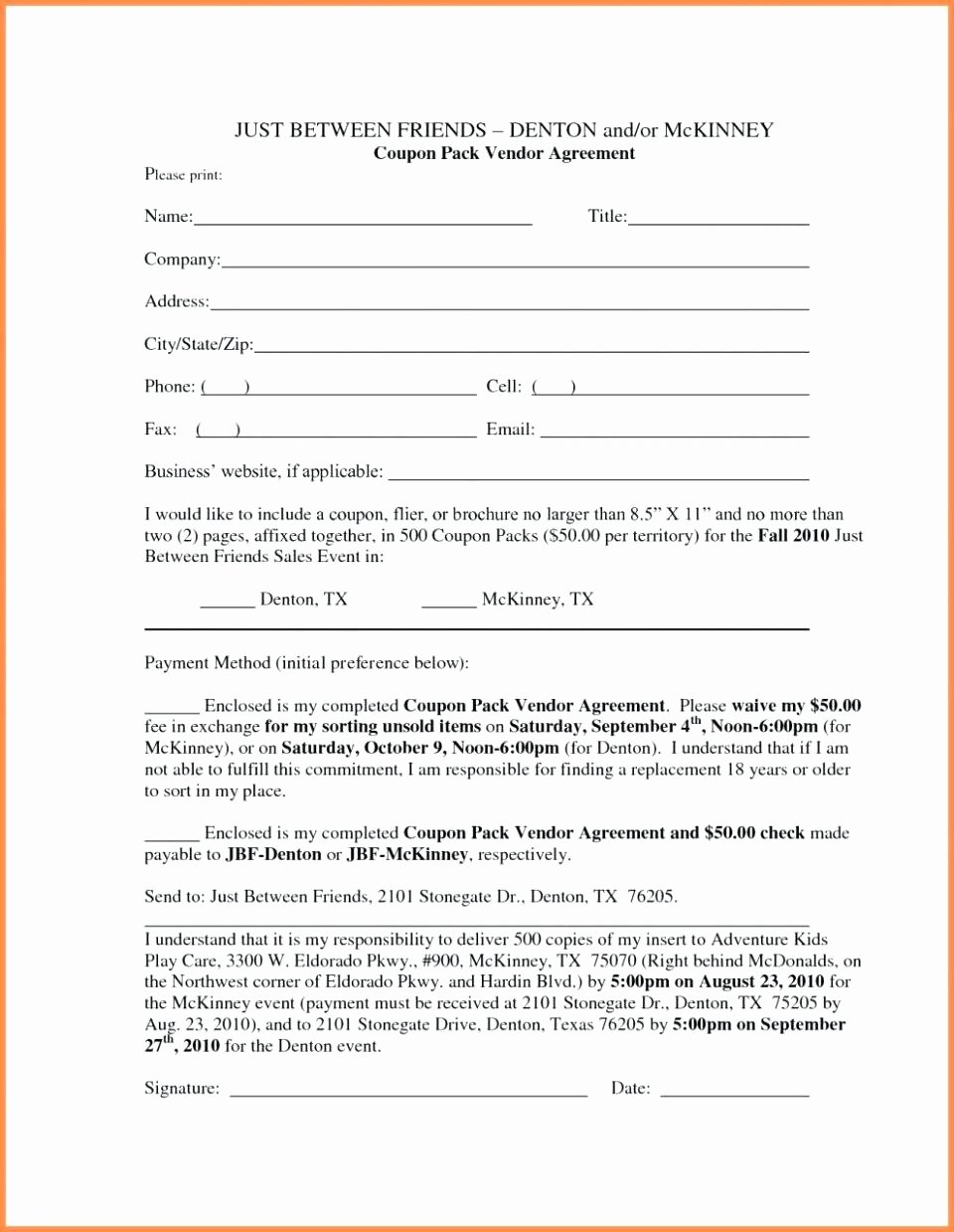 Template Business Contract Template for Partnership