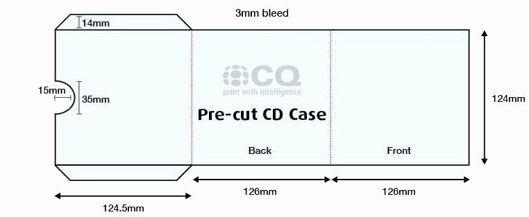 Template Cd Cardboard Sleeve Template