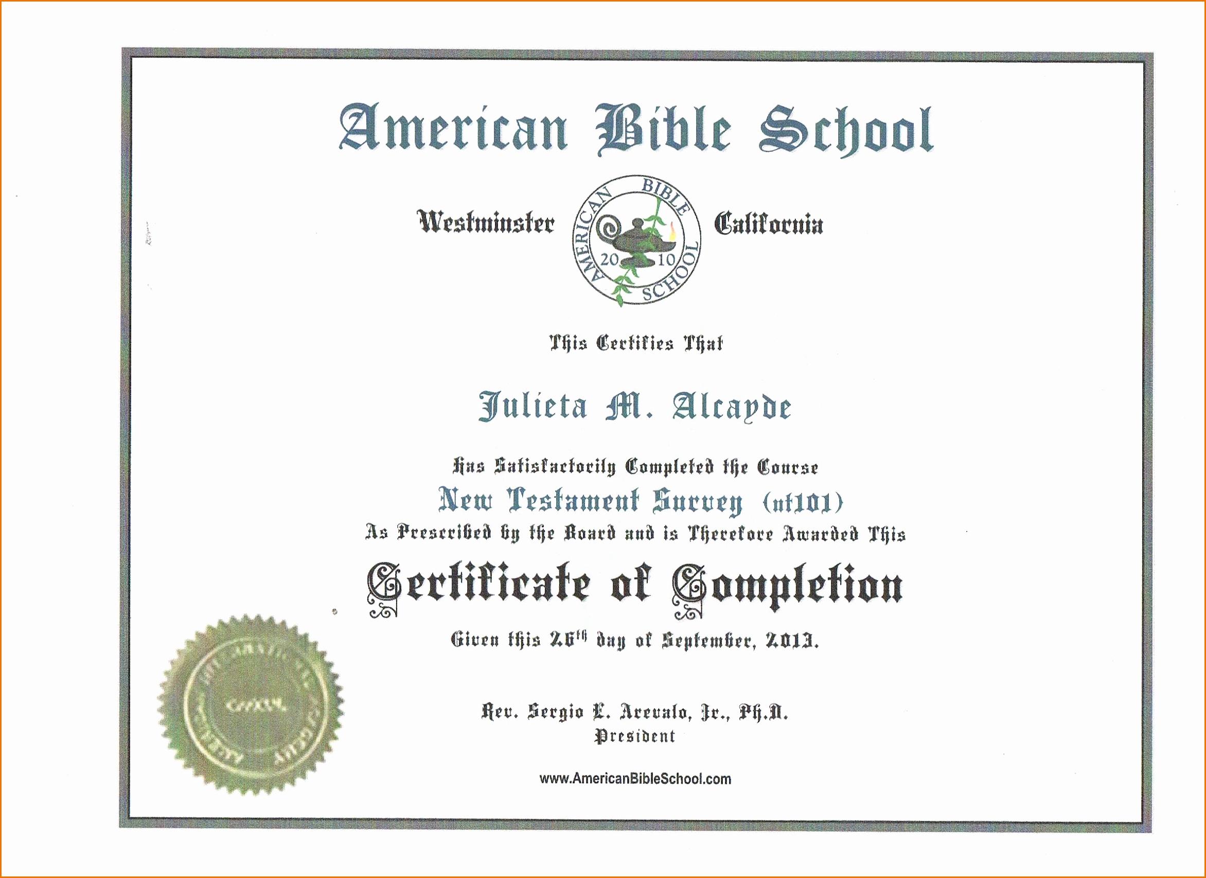 13 Certificate Of Pletion Templates Excel Pdf formats – Latter