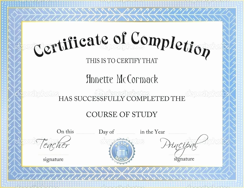 Template Certificate Template Powerpoint