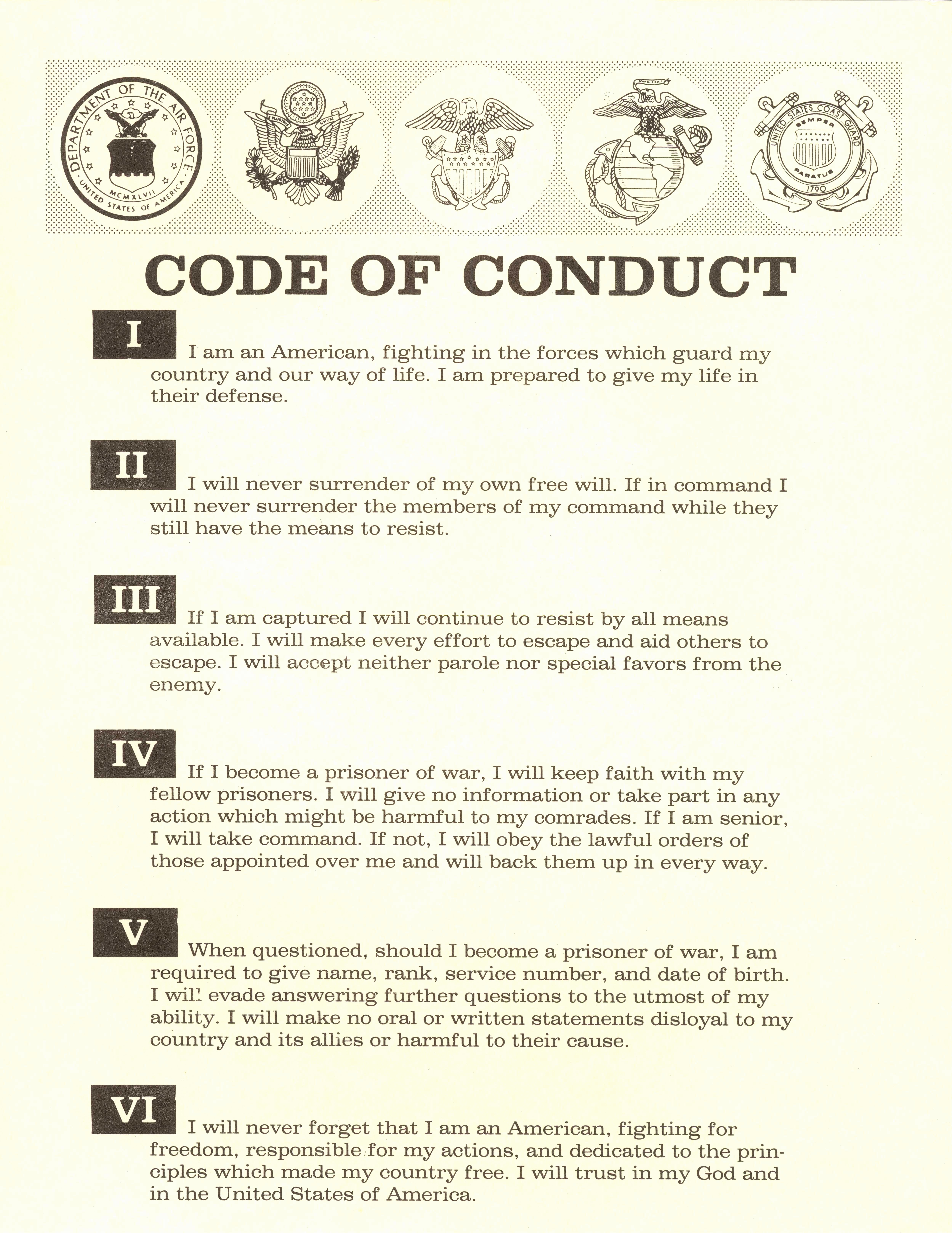 Template Code Conduct Example Code Conduct Example