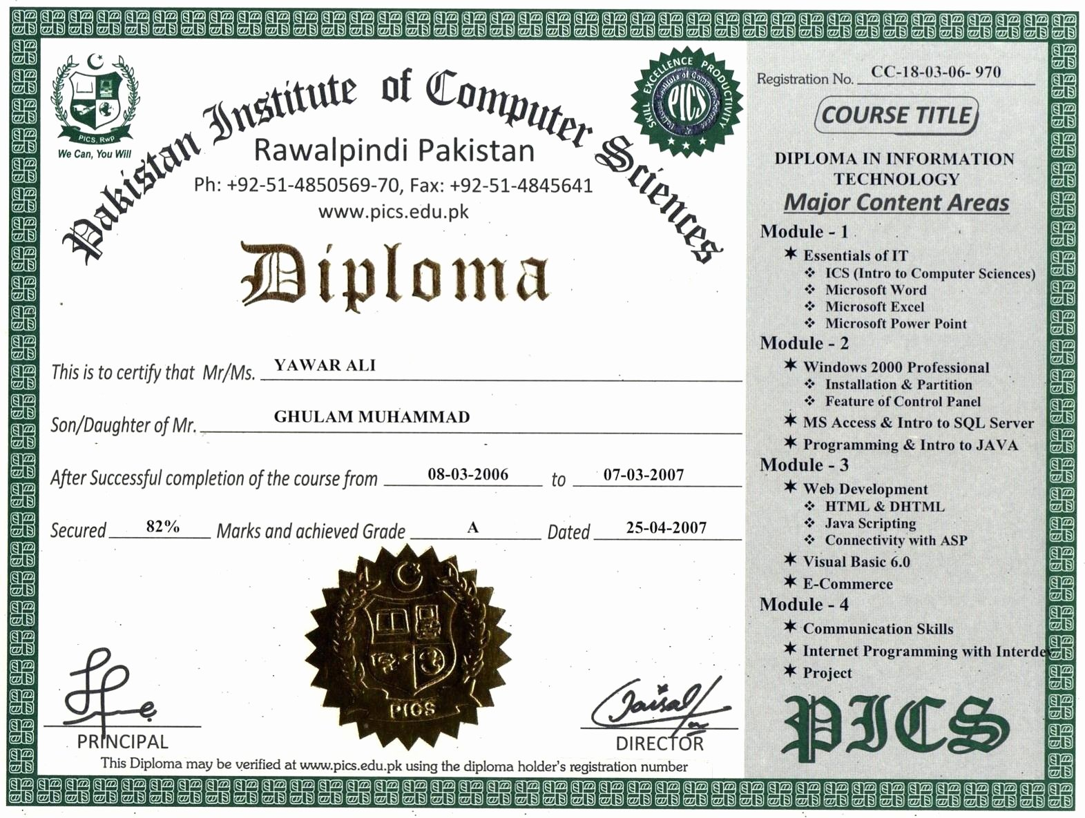 Template College Diploma Template Word