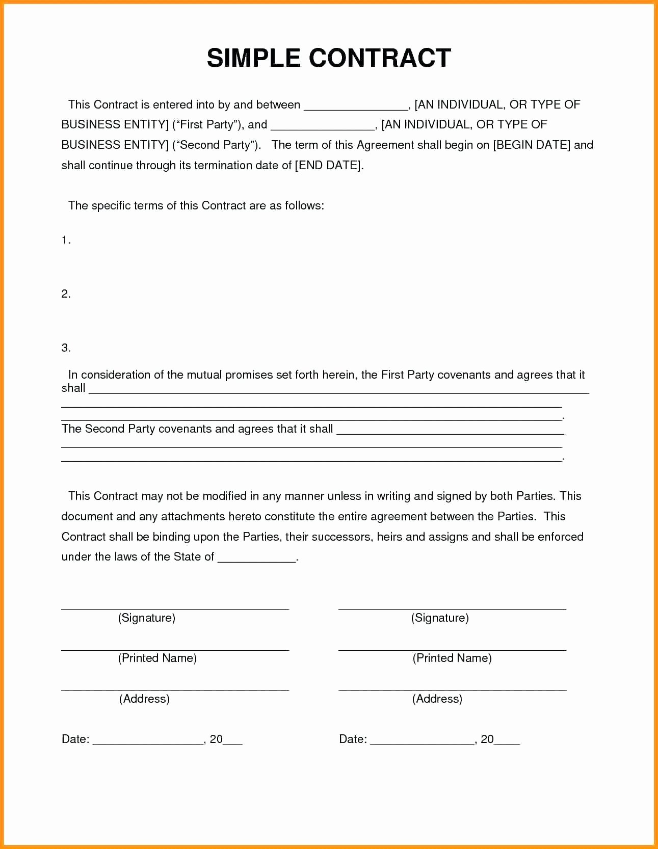 Template Contractor Contract Template